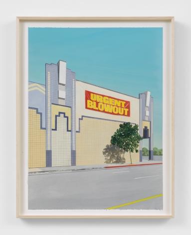 Jake Longstreth Urgent Blowout, 2021 Oil on paper 24 x 18 in 61 x 45.7 cm (JLO21.022)