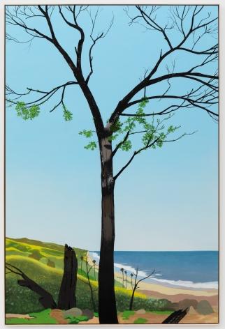Jake Longstreth, In Malibu (New Growth 2), 2020. Oil on muslin, 85 x 57.25 in, 216 x 145.5 cm (framed). (JLO20.002)