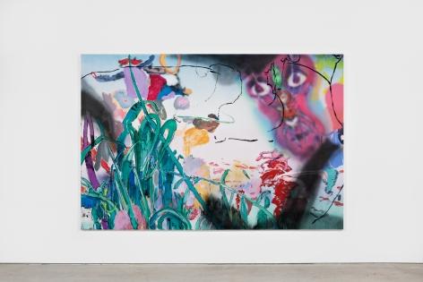 Antwan Horfee Widget Megabrain Hiking, 2021 Acrylic on canvas 78 3/4 x 118 1/8 in 200 x 300 cm (HOR21.014)