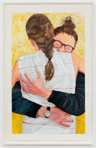 Rebecca Ness, Us, 2020. Gouache and colored pencil on paper, 40 x 25 in, 101.6 x 63.5 cm, 42 1/2 x 27 1/4 in (framed), 108 x 69.2 cm (RNE20.017)