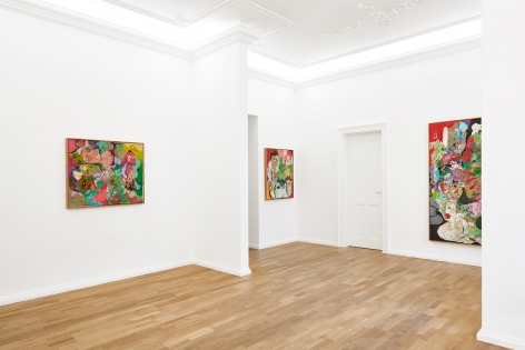 Installation view 5 of Michael Bauer: New Paintings (April 19-22, 2018) at Salon Nino Mier, Cologne