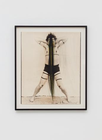 Arnulf Rainer, Self-portrait, 1972-1973, Paint on photograph, 23 1/4 x 18 1/4 in (59 x 46.5 cm), ARA19.001