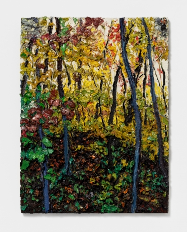Robert Terry In the Woods, Hudson River, 2012 Oil on board 24 x 18 in 61 x 45.7 cm (RTE21.005)