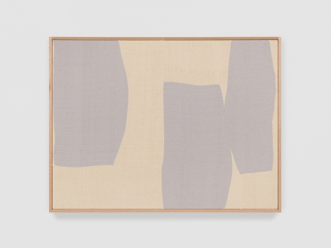 Ethan Cook Silver Rondo IV, 2021 Handwoven Cotton and linen, framed 30 x 40 inches 76.2 x 101.6 cms (ECO21.034)