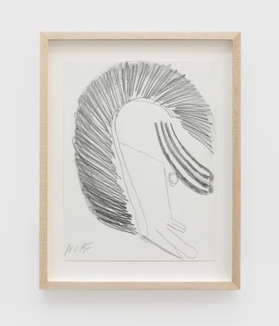 Ulrich Wulff, Hey Will, 2019, Graphite on paper, 11 3/4 x 9 in (29.8 x 22.9 cm), UWU19.015