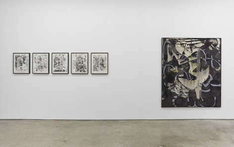 """Installation View of """"Osc Mix (series)"""", and """"Pitty"""""""
