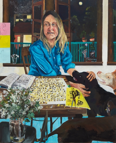 Celeste Dupuy-Spencer Eve Fowler, 2018 Oil on linen 48 x 39 in 121.9 x 99.1 cm (CDS18.003)