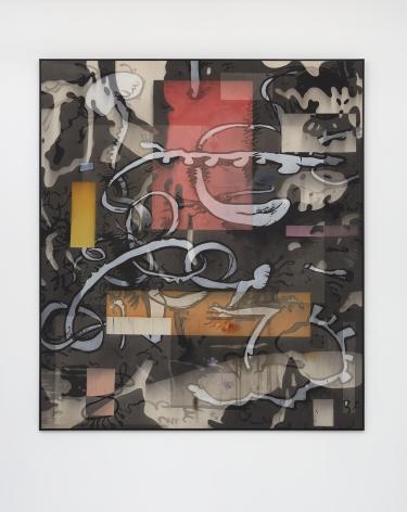 Jan-Ole Schiemann, Ohne Titel, 2016, ink and acrylic on canvas, 90.6 x 78.7 in, (230 x 200 cm), JS16.031