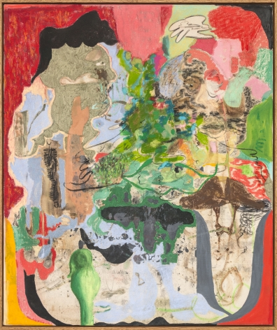 Michael Bauer Gardener's Dream, 2018 Oil, oil pastel, acrylic, charcoal on canvas 38 x 32 in 96.5 x 81.3 cm (MB18.002)