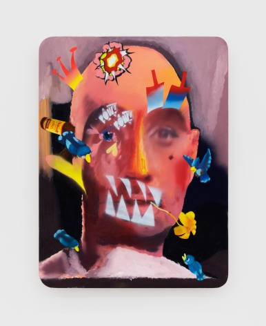 Alessandro Pessoli King Faki, 2020 Oil, spray paint and pencil on wood panel 40 x 30 in 101.6 x 76.2 cm (APE20.016)