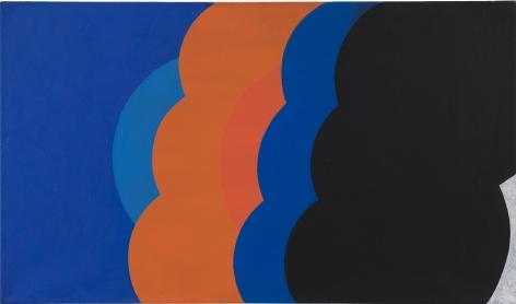 Georg Karl Pfahler, B/G Tex I, 1967.  Acrylic on canvas, 27 1/2 x 47 1/4 in, 70 x 120 cm (GKA20.005)