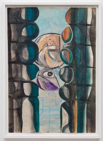 Tomasz Kowalski, Untitled, 2018. Watercolor on paper, 24 x 17 in, 61 x 43.2 cm (TKO18.021)
