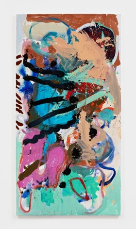 Anke Weyer  Automatisch, 2021oil and acrylic on canvas  78 x 40 in 198.1 x 101.6 cm(AWE21.003)