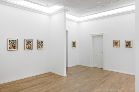 Installation view of Jan-Ole Schiemann's, Are you relevant my friend?, (March 21-April 10, 2021). ​Salon Nino Mier Cologne