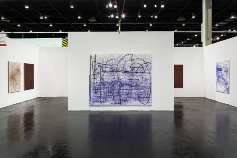 Installation view of Jana Schröder & Thomas Wachholz at Art Cologne, 2016