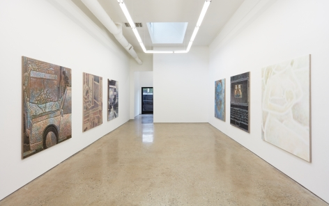 """Installation View of """"interzoni"""" (2018) by Max Kirmse facing Entrance"""