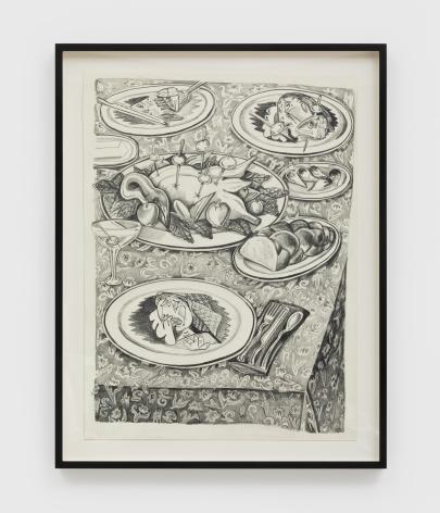 Nikki Maloof The Goose Study, 2021 Graphite on paper 16 x 11 1/2 in (unframed) 40.6 x 29.2 cm (unframed) 18 x 14 x 1 1/2 in (framed) (NMA21.001)