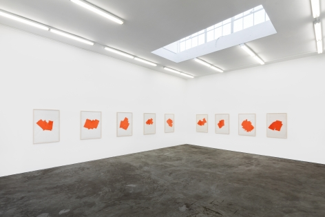 Installation view of Imi Knoebel: Works from the Seventies (November 9-December 21, 2019) at Nino Mier Gallery, Los Angeles