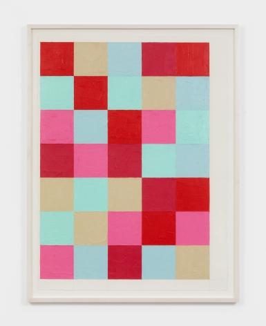Dashiell Manley grid, 2021 Oil stick on paper 22 x 30 in 55.9 x 76.2 cm (DMA21.017)