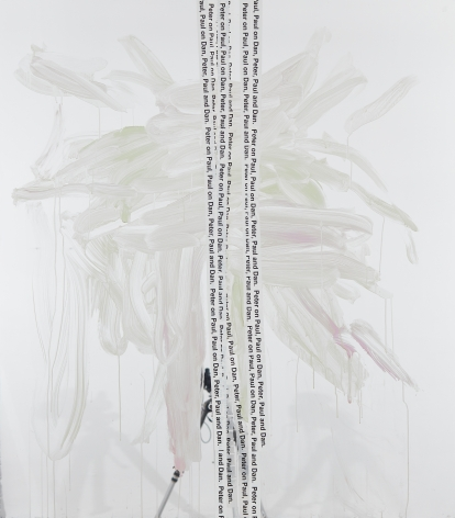 Peter Bonde, Peter on Paul, 2015. Oil on mirror foil, 63 x 55.12 x 1.6 inches, 160 x 140 x 4 cm (PB15.001)