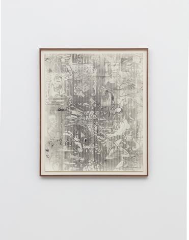 Jan-Ole Schiemann,Osc Mix (series), 2016, graphite powder on paper, 25.75 x 21.75 in (65.4 x 55.2 cm) (framed), JS16.036