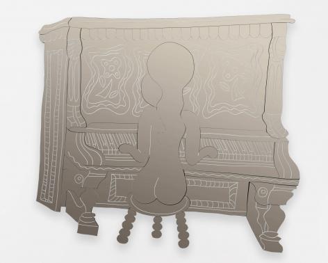 William N. Copley, Sonata, 1977-2012. Mirrored acrylic, 65 x 71 x 2 in, 165.1 x 180.3 x 5.1 cm, Edition of 6, 2 APs (WC20.006)