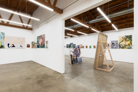 Installation view 5 of To Paint is To Love Again, Curated by Olivier Zahm (January 18-28, 2020) at Nino Mier Gallery, Los Angeles
