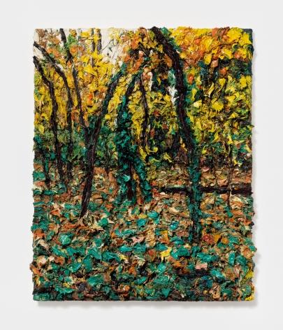 Robert Terry Scene in Woods, Climbing Ivy, 2012 Oil on board 20 x 16 in 50.8 x 40.6 cm (RTE21.002)