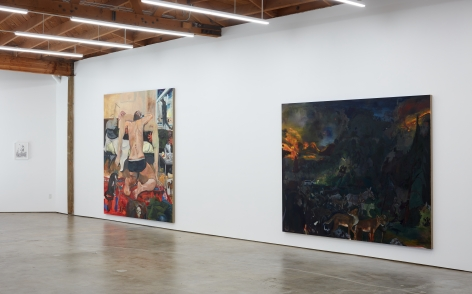 Installation view 2 of Celeste Dupuy-Spencer: The Chiefest of Ten Thousand (September 22-November 3, 2018), Nino Mier Gallery, Los Angeles