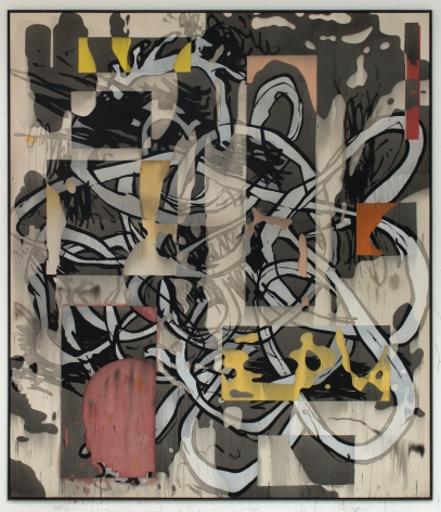 Jan-Ole Schiemann, Ohne Titel, 2016. Ink and acrylic on canvas, 90.6 x 78.7 inches, 230 x 200 cm (JS16.005)