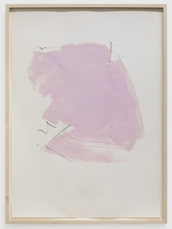 Imi Knoebel Untitled, 1977 Oil and graphite on paper 39 3/8 x 27 1/2 in 100 x 70 cm (IK77.005)