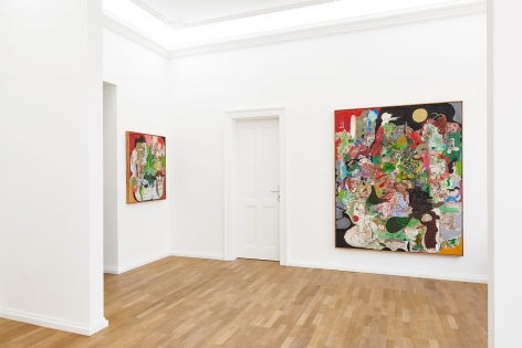 Installation view 4 of Michael Bauer: New Paintings (April 19-22, 2018) at Salon Nino Mier, Cologne