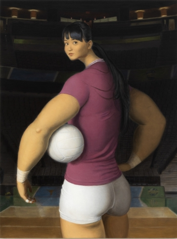 Jansson Stegner, Arena, 2020. Oil on canvas, 48 x 36 in, 121.9 x 91.4 cm (JAS20.016)