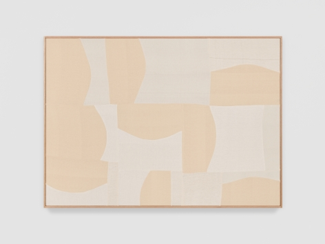 Ethan Cook The way forms go, 2021 Handwoven Cotton and linen, framed 50 x 70 inches 127 x 177.8 cms (ECO21.023)