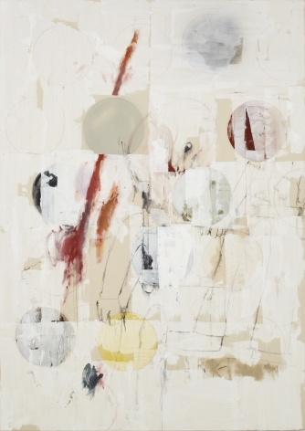 Ted Gahl Commuter (January), 2015 acrylic, oil, graphite, colored pencil, and enamel on canvas 84 x 60 in 213.4 x 152.4 cm (TG15.002)