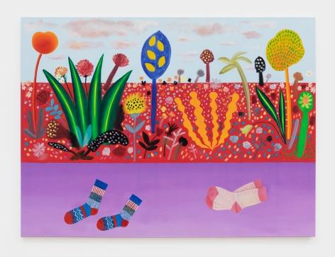 Jannis Varelas Victorville, 2021 Oil, pastel, gesso on canvas 78 3/4 x 59 in 200 x 149.9 cm (JVA21.001)