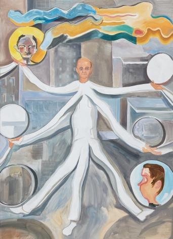 Tomasz Kowalski, Maxwell's Deamon, 2018. Oil on canvas, 98 3/8 x 70 7/8 x 1 5/8 in, 250 x 180 x 4 cm (TKO18.008)