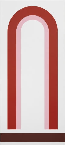 Thomas Wachholz U, 2019 Red phosphorus and acrylic on canvas 200 x 90 x 3.6 cm 78.7 x 35.4 x 1.4 in (TW19.019)