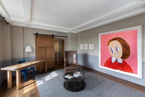 André Butzer, FELIX LA 2019, Installation view, Door view
