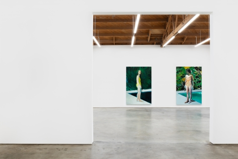 Installation View of Jonathan Wateridge: Inland Water (February 16-March 17, 2021) Nino Mier Gallery, Los Angeles, CA