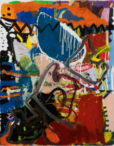 Anke Weyer, Shocks/Struts, 2020. oil and acrylic on canvas, 76 x 60 in, 193 x 152.4 cm (AWE20.006)