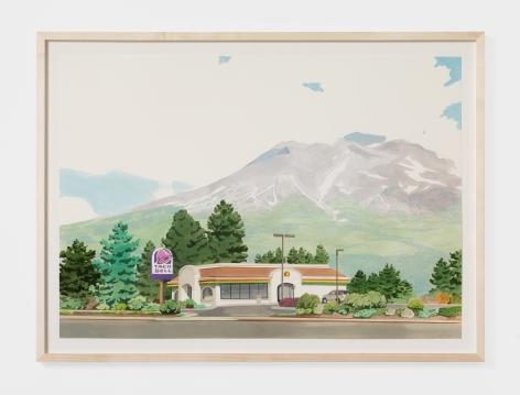 Jake Longstreth Weed, California, 2021 Oil on paper 16 3/4 x 23 5/8 in (unframed) 42.5 x 60 cm (unframed) (JLO21.012)