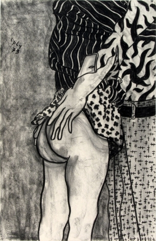 William N. Copley, Great Expectations, 1973. Charcoal on paper, 40 x 26 in, 101.6 x 66 cm (WC20.015)