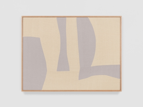 Ethan Cook Silver Rondo III, 2021 Handwoven Cotton and linen, framed 30 x 40 inches 76.2 x 101.6 cms (ECO21.036)