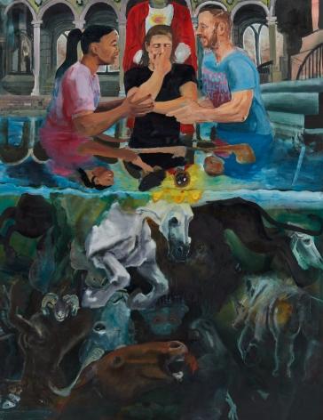 Celeste Dupuy-Spencer, Darkness Is Not Dark (Light Shines As Day), 2018 Oil on linen 65 x 50 in 165.1 x 127 cm (CDS18.040)