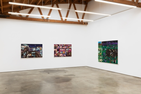 Installation View of Andrea Joyce Heimer: Loney Hunter (March 26-May 1, 2021) Nino Mier Gallery, Los Angeles, CA