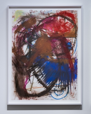 Anke Weyer, Untitled, 2017, pastel on paper, 30 x 22 in (76.2 x 55.9 cm), AW17.001