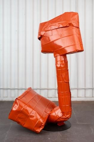 Anna Fasshauer, Ali Mama, 2018. Aluminum/car lacquer, 78 3/4 x 59 1/8 x 51 1/8 in, 200 x 150 x 130 cm (AF18.006)