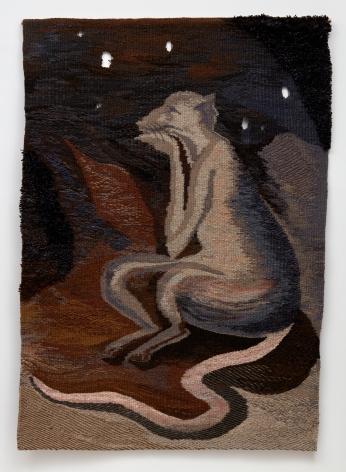 Tomasz Kowalski / Alicja Kowalska, Untitled (Thinker), 2018. Tapestry,  68 7/8 x 49 5/8 in, 175 x 126 cm (TKO18.001)
