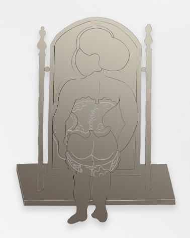 William N. Copley, Heart of My Heart, 1977-2012. Mirrored acrylic, 80 1/8 x 62 1/2 x 2 1/2 in, 203.5 x 158.8 x 6.3 cm, Edition of 2/6, 2 APs (WC20.037)
